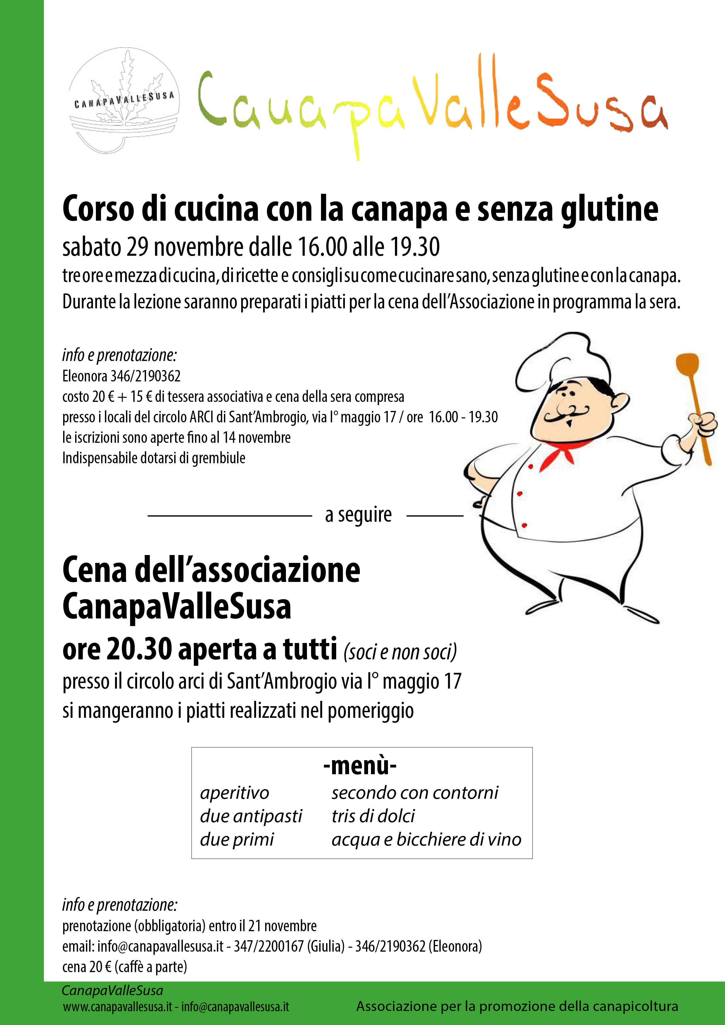 Canapavallesusa argomenti iniziative novita 39 for Corso di cucina giapponese